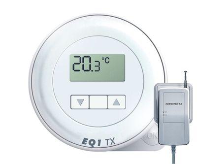 Euroster Q1TXRX Терморег. комнатный 5А 5-45°C, беспроводная версия цены