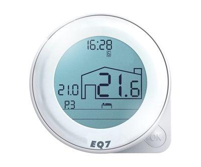Euroster Q7 Недельн. Программатор с функцией самообучения 5А 5-35°C, ЖК экран, внутр. датчик темп. оздуха, 4 темп. ежима в сутки, на батарейках  цена