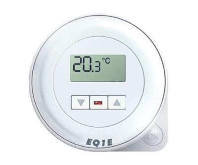 Euroster Q1E Терморег. комнатный 10А 5-45°C, ЖК экран и светодиодн. индикатор, внутрен. датчиком темп. воздуха,2 уровня темп.в сутки, питание от сети 230В. цена
