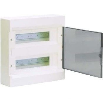 HAGER Щит навесной Сosmos 2 ряда 24 модуля прозрачные двери (VD212TD) цены