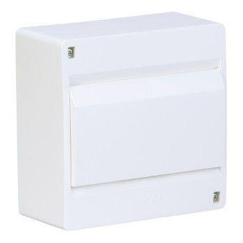 HAGER Щит навесной Сosmos 1 ряд 8 модулей белые двери (VD108PD) цена