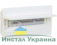 HAGER Щит встроеный Сosmos 1 ряд 12 модулей белые двери (VR112PD)