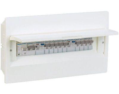 HAGER Щит встроеный Сosmos 1 ряд 12 модулей белые двери (VR112PD) цена