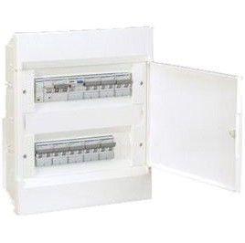 HAGER Щит встроеный Сosmos 2 ряда 24 модуля белые двери (VR212PD)
