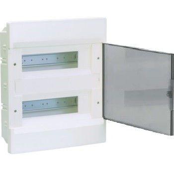 HAGER Щит встроеный Сosmos 2 ряда 24 модуля прозрачные двери (VR212TD) цены