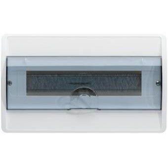 HAGER Щит встроеный Сosmos 1 ряд 18 модулей прозрачные двери (VR118TD) цена