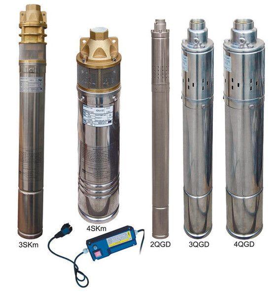 Насос скважинный шнековый VOLKS pumpe 2QGD 1-48-0.25кВт 2 дюйма! + кабель 15м