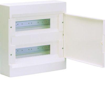 HAGER Щит навесной Сosmos 2 ряда 24 модуля белые двери (VD212PD) цены