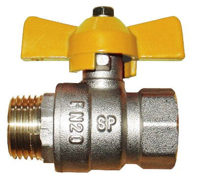 Газовый шаровый кран Solomon 1` НВ ЖБ PN40 цена