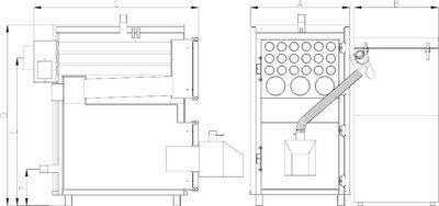 Твердотопливный пеллетный котел Heiztechnik MAXPell 550 цены