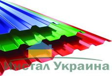 Профнастил ПК-15 кровельный 0,45 х 1168/1134 мм. Алюмоцинк Arselor Корея