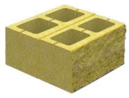 Блок декоративный для столба (двусторонний скол) М-200 400х400х200 (бордовый)