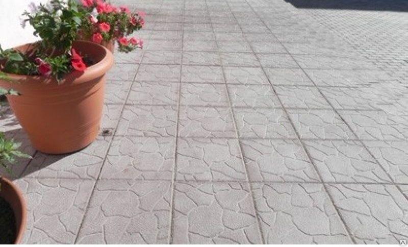 Тротуарная плитка Плита 300х300 (белый) для пешеходной зоны (4 см)