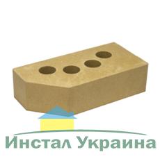 Кирпич Литос стандартный угловой желтый