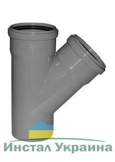 Interplast тройник 110х50х45° для внутренней канализации