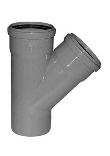 Interplast тройник 110х110х45° для внутренней канализации