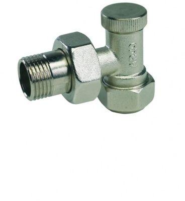 Кран радиаторный ARCO с нак. гайкой угловой п/ключ. P7563 ВН 1/2` цена