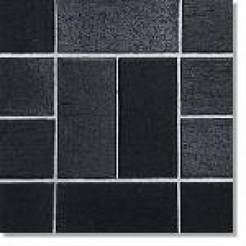 Тротуарная плитка Кирпич Стандартный без фаски (черный) 200х100 (6 см)