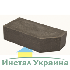 Кирпич Литос стандартный угловой полнотелый серый