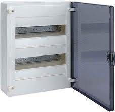 HAGER Щит навесной Golf 2 ряда 24 модуля з/у прозорачные двери с клемами IP40 (VS212TD)