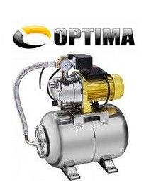 Насосная станция Optima JET 150S нерж, 1.3 кВт (бак 24 л нержавеющий бачок)