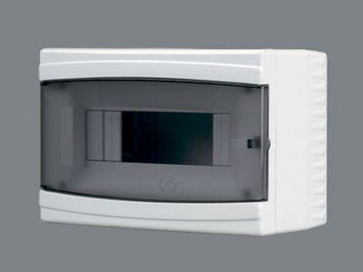 Щиток пластиковый на 9 модулей с ддверцей(внешний) BR 806 цена
