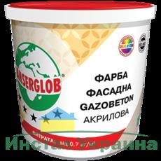 Anserglob Структурная акриловая краска GAZOBETON 14кг.