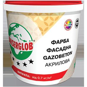 Anserglob Структурная акриловая краска GAZOBETON 14кг. цены
