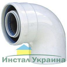 Колено коаксиальное 60/100 87° НТ
