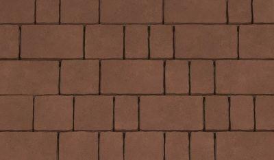 Тротуарная плитка Старый город (коричневый) для пешеходной зоны (4 см) цена