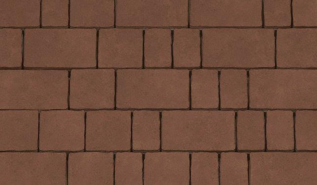 Тротуарная плитка Старый город (коричневый) для пешеходной зоны (4 см)