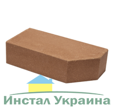 Кирпич Литос стандартный угловой полнотелый бордо