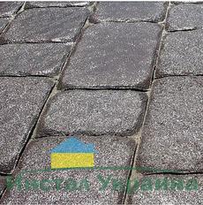 Тротуарная плитка Старая площадь 300х300 (черный) для пешеходной зоны (4 см)
