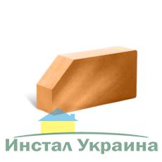 Кирпич Литос стандартный угловой полнотелый терракот