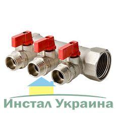 Valtec VTc.580 коллектор регул. Нар.резьба 2в..х3/4`х1/2` Никель