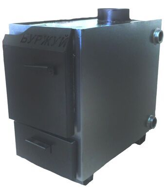 Твердотопливный котел Буржуй КП(э)-10 (с выходом дымохода 140) цены