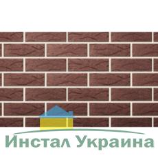 Клинкерный кирпич половинка Керамейя Рустика Оникс 73