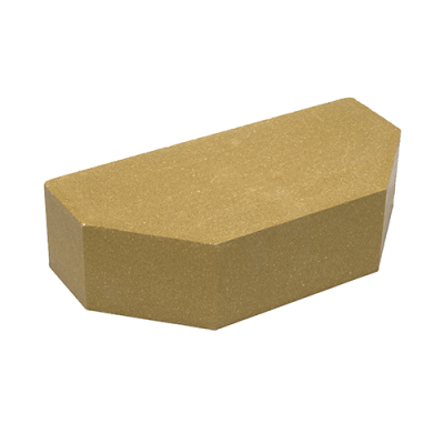 Кирпич Литос стандартный 2-х угловой полнотелый желтый
