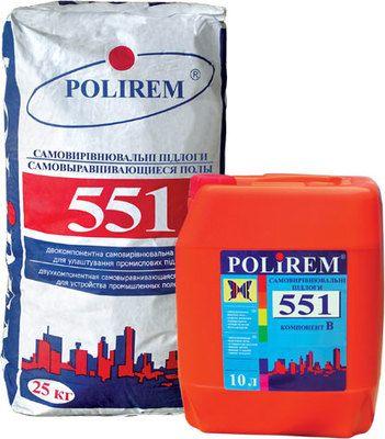 Polirem 551 промышленный самовыравнивающийся пол, слой 5-50 мм цена