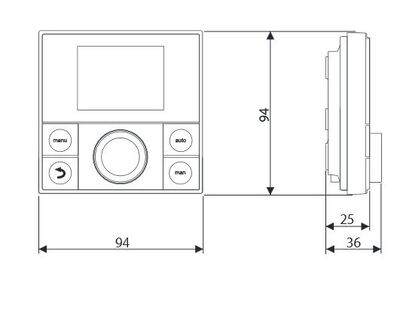 Пульт управления настенным котлом Buderus Logamatic RC200 / EMS Plus цена