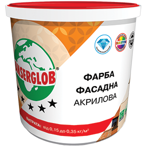 Anserglob Краска фасадная акриловая 1,4кг.
