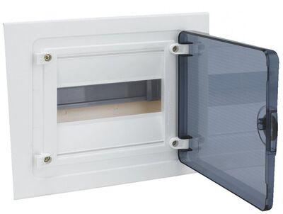 HAGER Щит встроеный Golf 1 ряд 12 модулей з/у прозрачные двери, с клемами IP40 (VF112TD) цены