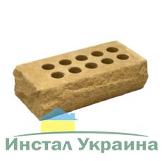 Кирпич Литос стандартный Скала тычковой желтый