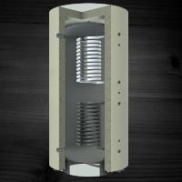 Теплоаккумулирующая емкость KRONAS с двумя спиральными теплообменниками 1000 (с теплоизоляцией)