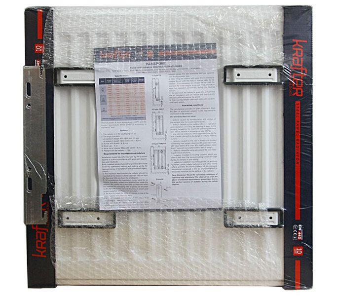 Радиатор стальной панельный нижнее подключение Krafter VC22 500x1000