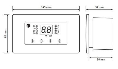 Euroster 11K Термоконтр.для управл. Камином с водяной рубашкой. система Антистоп, ЖК экран, 2 выносных датчика темп цена