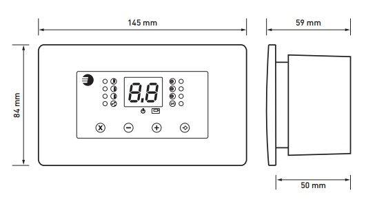 Euroster 11K Термоконтр.для управл. Камином с водяной рубашкой. система Антистоп, ЖК экран, 2 выносных датчика темп