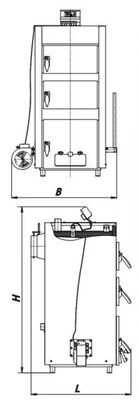 Твердотопливный котел Данко - 35Т цена