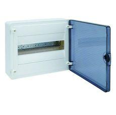 HAGER Щит навесной Golf 1 ряд 12 модулей з/у прозрачные двери с клемами IP40 (VS112TD)