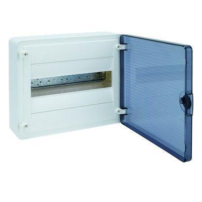 HAGER Щит навесной Golf 1 ряд 12 модулей з/у прозрачные двери с клемами IP40 (VS112TD) цена